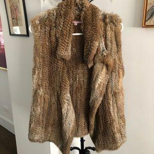 Calypso St. Barth rabbit fur vest - brown - size S